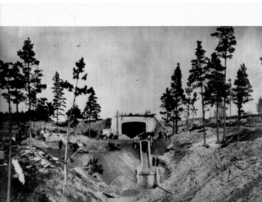 Движенцев, 1 Строительство тоннеля,1913 г.