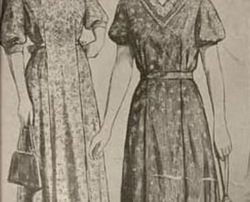 Эскизы одежды Новосибирского дома моделей. 1958