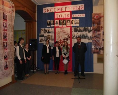 На открыти выставки О победителях потомкам. Выступает Сулейманов Р.И.