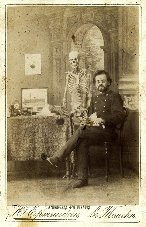 Памятная фотография Ю. Ф. Ержинскаго, предположительно, томского врача, 1898г