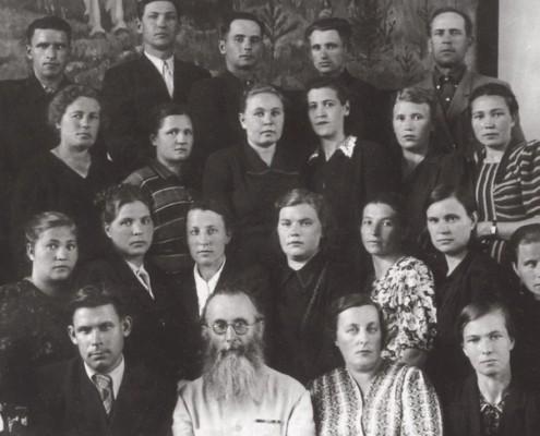 Слушатели курсов Новосибирского института усовершенствования учителей. 1954