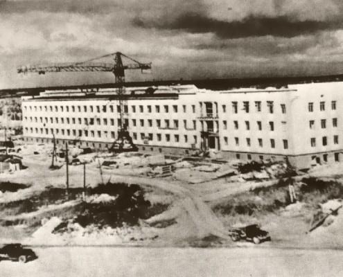 Строительство Академгородка. конец 1950-х гг