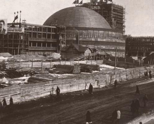 Строительство Театра оперы и балета. 1941