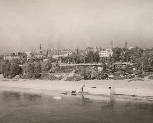 Строительство набережной. 1959