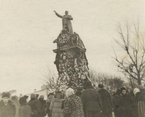Траурный митинг 1953 год