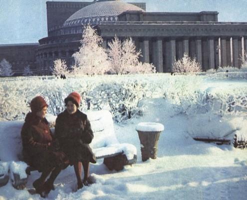 В сквере перед Театром оперы и балета. 1965