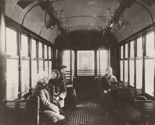 В трамвае. 1935