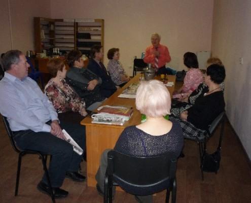 Встреча с советом ветеранов комсомола ЦР. Выступает председатель Кузин В.П.