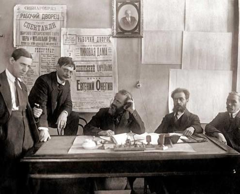 Члены худ. совета сибирского гос. театра оперы и музыкальной драмы 1923-1924
