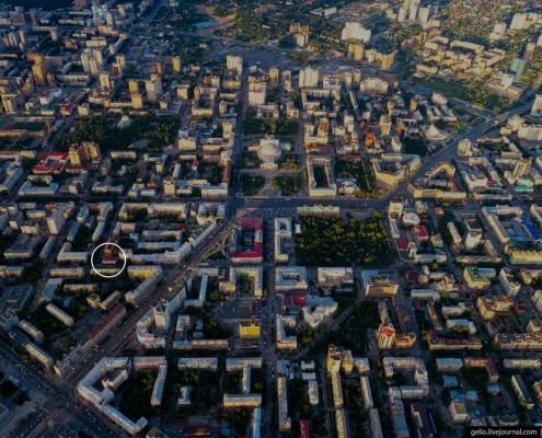 Фотография «Вид на центр Новосибирска с птичьего поля» Фото Славы Степанова. 2018 год.