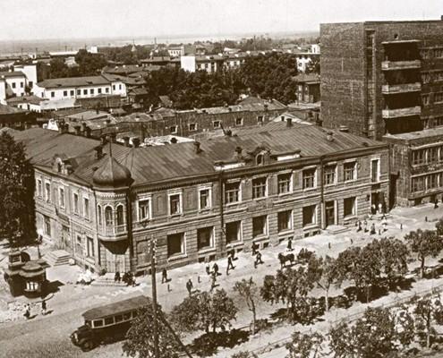 Фотография «Красный проспект на пересечении с ул. Свердлова». 1934 год.
