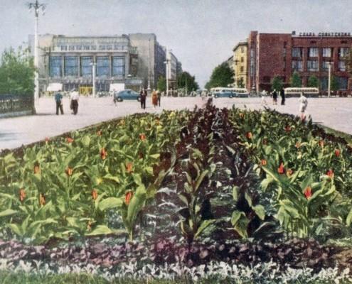 Почтовая открытка «Новосибирск. Площадь Сталина».