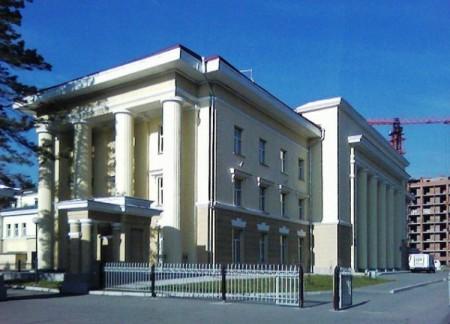 Фотография «Дом молодежи Первомайского района (портик на южном фасаде)»