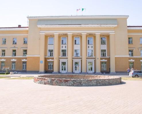 Фотография «Дом молодежи Первомайского района: главный вход».
