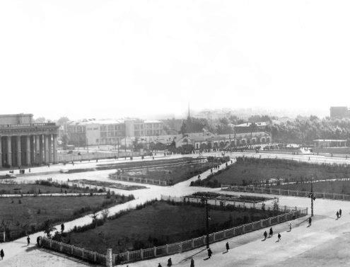 Фотография «Панорамный вид на площадь Сталина» Фотомонтаж панорамы 1. 1947-1948 годы.