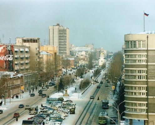 Фотография «Новосибирск. Вид на Красный проспект» Фото Е. Иванова. 2000 год.