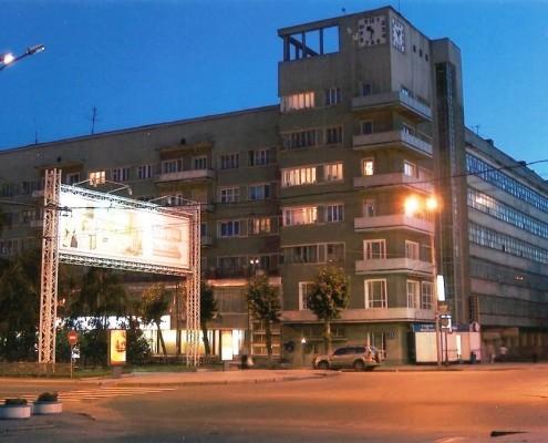 Фотография «Новосибирск. Дом с часами» Фото А. Шапрана. 2005 год.