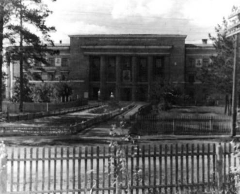Фотография «Дом культуры железнодорожников». Автор фото неизвестен, 1950-е годы.