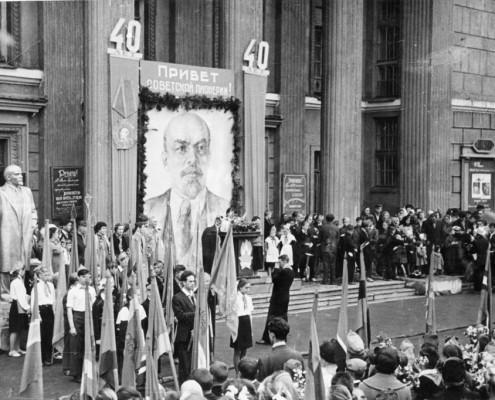 Фотография «Празднование 40-летия пионерской организации имени В.И. Ленина». Автор фото неизвестен. Май 1962 года.