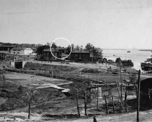 Фотография «Устье р. Каменки в 1934 г.» из фотоальбома «Новосибирск. 1891-1934». Фото И. Моторина. 1934 год.