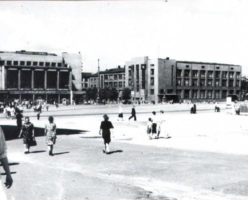 Фотография «Новосибирск. Площадь Сталина» 1947-1948 годы. МН КПоф