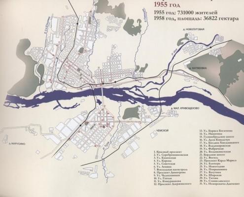 Карта 1955