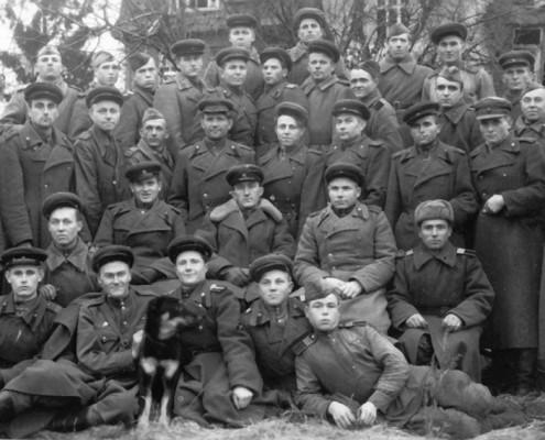 Сибиряки-артиллеристы в Кенигсберге