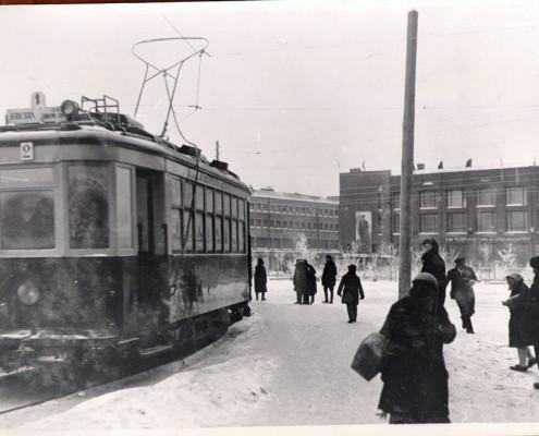 трамвай (угол Красного пр. и Семипалатинской ул) 1934